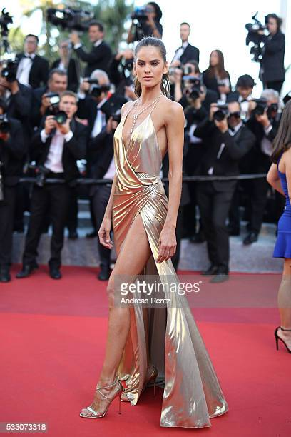 Model Izabel Goulart attends 'The Last Face' Premiere during the 69th annual Cannes Film Festival at the Palais des Festivals on May 20 2016 in...