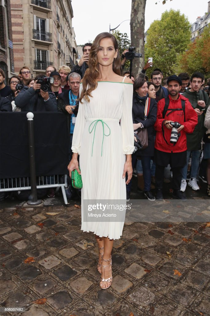 Model Izabel Goulart, attends the Valentino show as part of the Paris Fashion Week Womenswear Spring/Summer 2018 on October 1, 2017 in Paris, France.