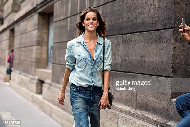 Model Izabel Goulart exits the Alexandre Vauthier show at Les Arts Decoratifs on July 7 2015 in Paris France