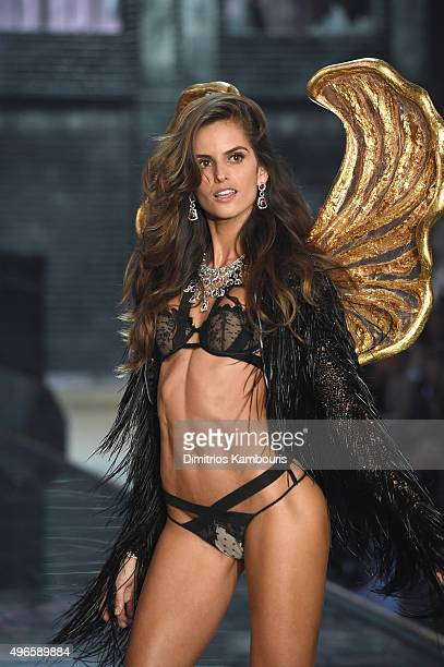 Model Izabel Goulart from Brazil walks the runway during the 2015 Victoria's Secret Fashion Show at Lexington Avenue Armory on November 10 2015 in...