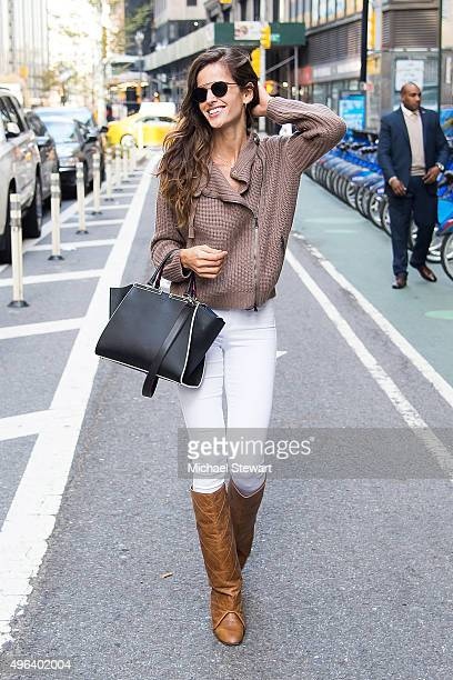 Model Izabel Goulart is seen in Midtown on November 9 2015 in New York City