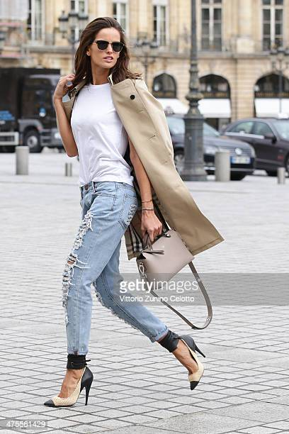 Model Izabel Goulart is seen Place Vendome during on February 28 2014 in Paris France