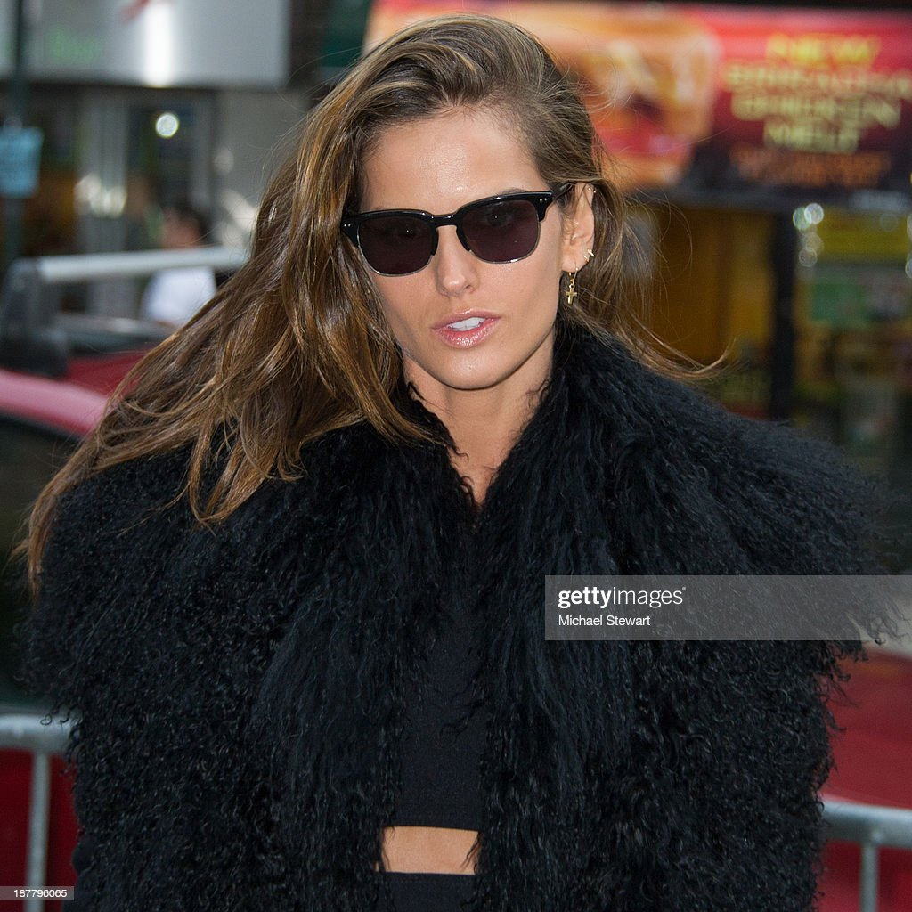 Model <a gi-track='captionPersonalityLinkClicked' href=/galleries/search?phrase=Izabel+Goulart&family=editorial&specificpeople=566749 ng-click='$event.stopPropagation()'>Izabel Goulart</a> seen arriving at rehearsals for the 2013 Victoria's Secret Fashion Show on November 12, 2013 in New York City.