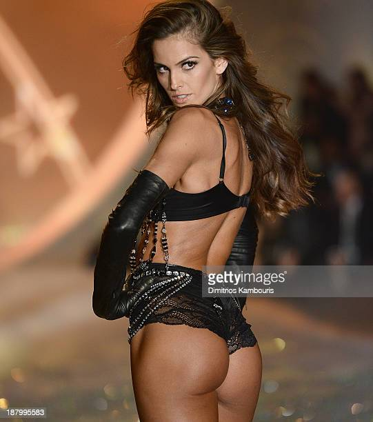 Model Izabel Goulart walks the runway at the 2013 Victoria's Secret Fashion Show at Lexington Avenue Armory on November 13 2013 in New York City