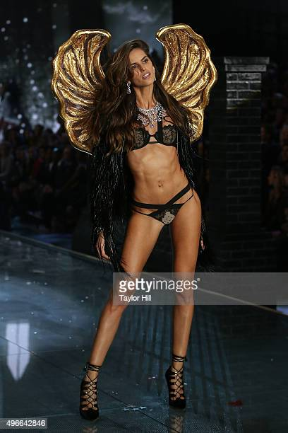 Model Izabel Goulart walks the runway during the 2015 Victoria's Secret Fashion Show at Lexington Avenue Armory on November 10 2015 in New York City
