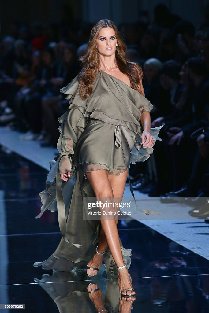 Model Izabel Goulart walks the runway during the Alexandre Vauthier Spring Summer 2016 show as part of Paris Fashion Week on January 26 2016 in Paris...