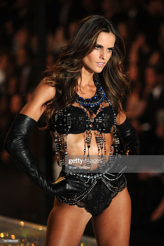 Model Izabel Goulart walks the runway wearing Body Piece with Swarovski Crystalsat the 2013 Victoria's Secret Fashion Show at Lexington Avenue Armory on November 13, 2013 in New York City.