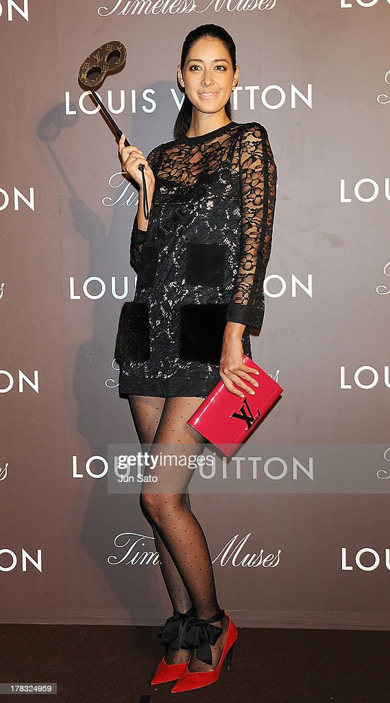 Model Izumi Mori attends Louis Vuitton 'Timeless Muses' exhibition at the Tokyo Station Hotel on August 29, 2013 in Tokyo, Japan.