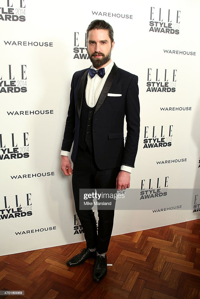 Model Jack Guinness attends the Elle Style Awards 2014 at one Embankment on February 18, 2014 in London, England.