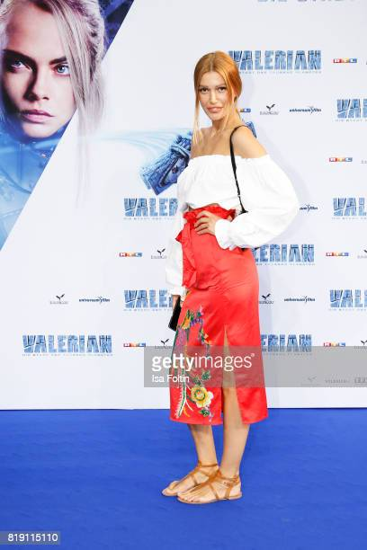 Model Jackie Hide during the 'Valerian Die Stadt der Tausend Planeten' premiere at CineStar on July 19 2017 in Berlin Germany