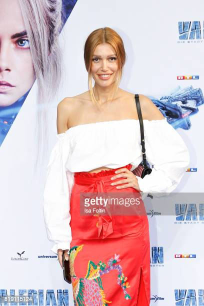 Model Jackie Hide during the 'Valerian Die Stadt der Tausend Planeten' premiere at CineStar on July 19 2017 in Berlin Germany