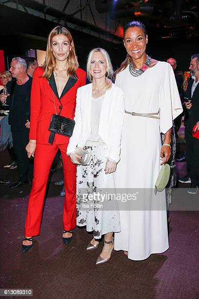 Model Jackie Hide german moderator Tamara Nayhauss and german moderator Annabelle Mandeng attend the Tribute To Bambi at Station on October 6 2016 in...