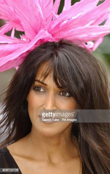 Model Jackie St Clair arrives for the ladies day meeting at Royal Ascot