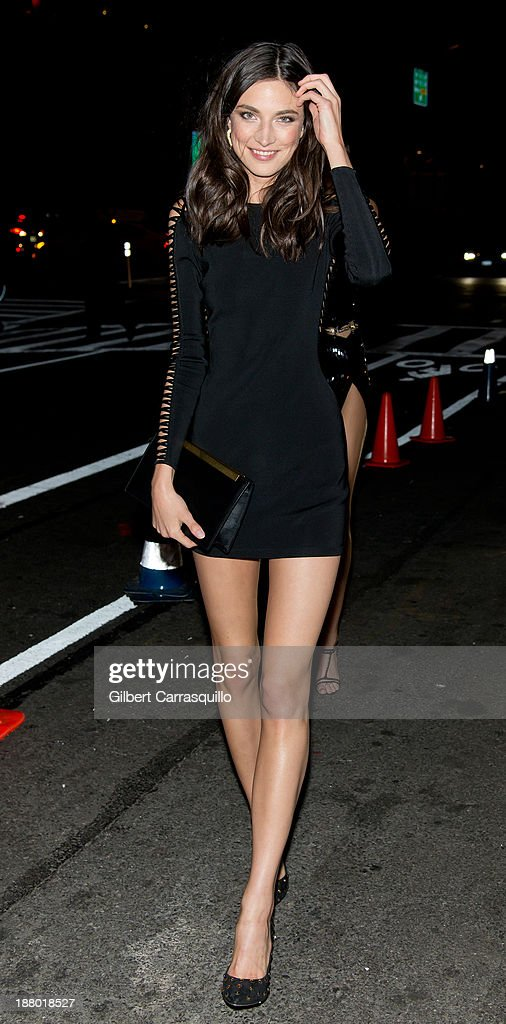 Model Jacquelyn Jablonski arrives at the 2013 Victoria's Secret Fashion Show at TAO Downtownon November 13, 2013 in New York City.