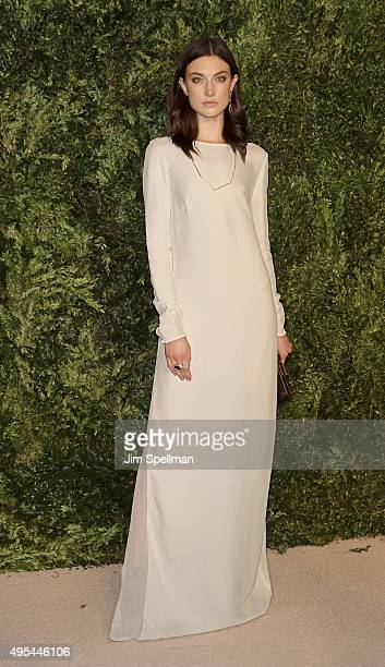 Model Jacquelyn Jablonski attends the 12th annual CFDA/Vogue Fashion Fund Awards at Spring Studios on November 2 2015 in New York City