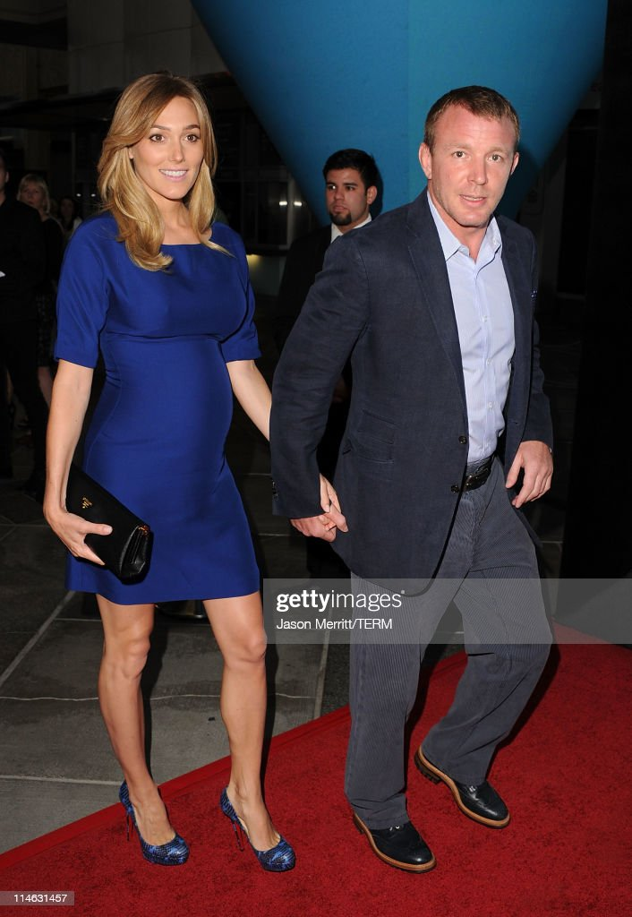 Model Jacqui Ainsley and director Guy Ritchie arrive at 'The Tree Of Life' Los Angeles Premiere at Bing Theatre at the Los Angeles County Museum of Art on May 24, 2011 in Los Angeles, California.