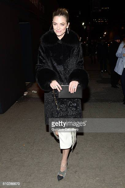 Model Jaime King arrives to Prabal Gurung fall 2016 in a Lexus during day 4 of New York Fashion Week The Shows at Skylight at Moynihan on February 14...