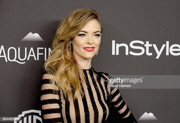 Model Jaime King attends InStyle and Warner Bros 73rd Annual Golden Globe Awards PostParty at The Beverly Hilton Hotel on January 10 2016 in Beverly...