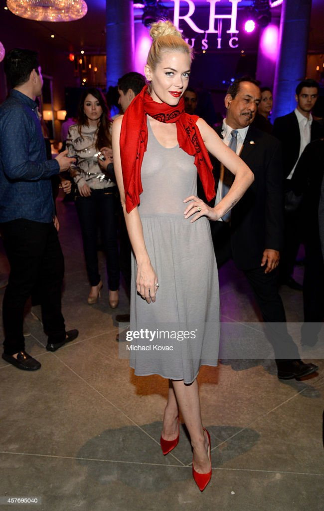Model Jaime King attends the opening of Restoration Hardware West Hollywood The Gallery on Melrose Avenue on October 22 2014 in Hollywood California