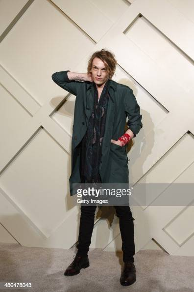 Model Jamie Campbell Bower attends the Burberry brings London to Shanghai event on April 24 2014 in Shanghai China