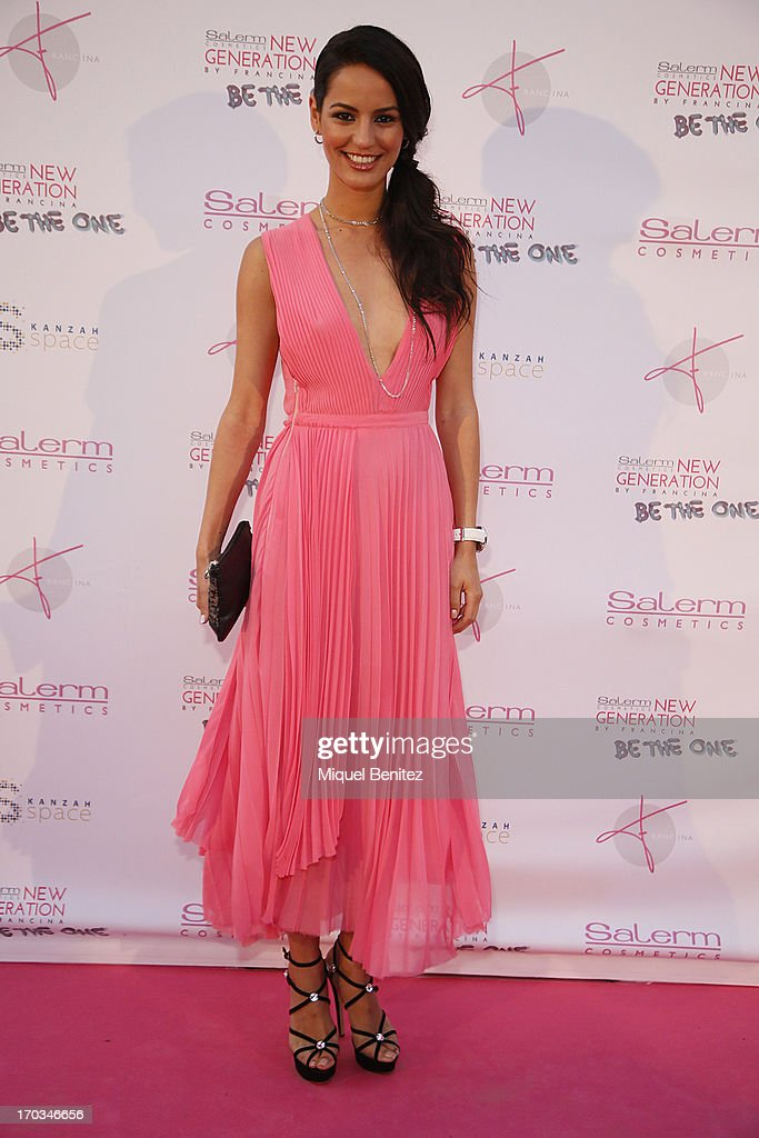 Model Jana Perez poses on the red carpet of New Generation by Francina on June 11, 2013 in Barcelona, Spain.