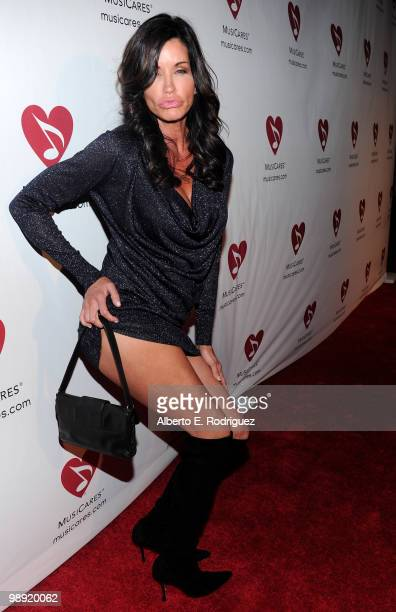 Model Janice Dickinson arrives at the 6th Annual MusiCares MAP Fund Benefit Concert at Club Nokia on May 7 2010 in Los Angeles California