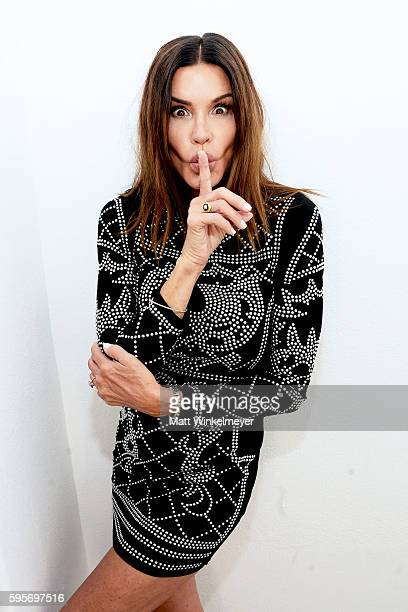 Model Janice Dickinson attends the Courtney Allegra VIP store opening and fashion show on August 25 2016 in Los Angeles California