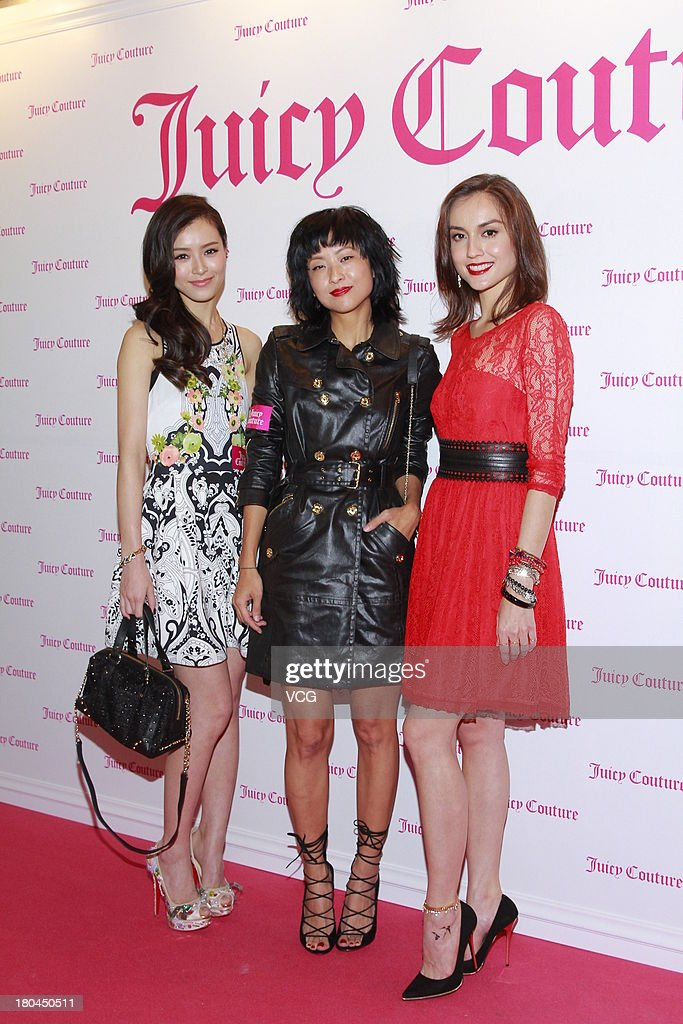 Model <a gi-track='captionPersonalityLinkClicked' href=/galleries/search?phrase=Janice+Man&family=editorial&specificpeople=5814398 ng-click='$event.stopPropagation()'>Janice Man</a>, actress Hilary Tsui and model Mandy Lieu attend Juicy Couture promotional event on September 12, 2013 in Hong Kong, Hong Kong.