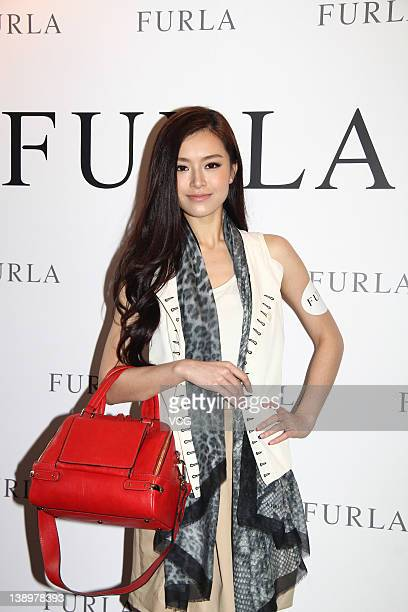 Model Janice Man attends Furla Spring Summer 2012 Preview at Hong Kong Arts Centre on February 14 2012 in Hong Kong Hong Kong