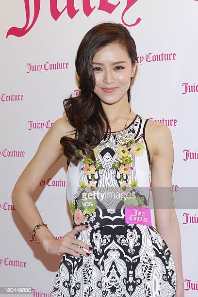 Model Janice Man attends Juicy Couture promotional event on September 12 2013 in Hong Kong Hong Kong