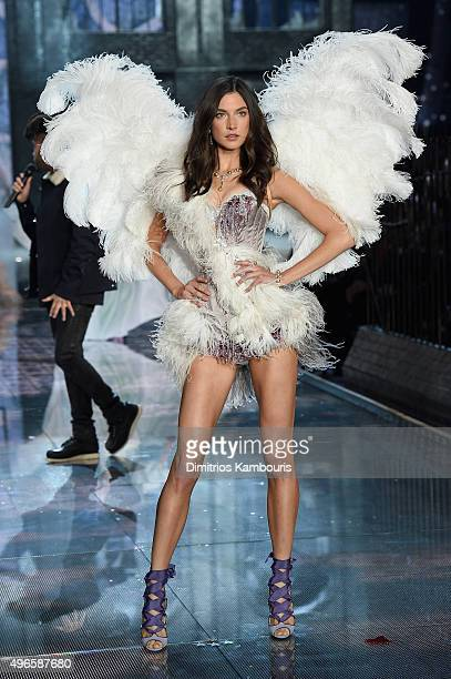 Model Jaquelyn Jablonski from New Jersey walks the runway during the 2015 Victoria's Secret Fashion Show at Lexington Avenue Armory on November 10...