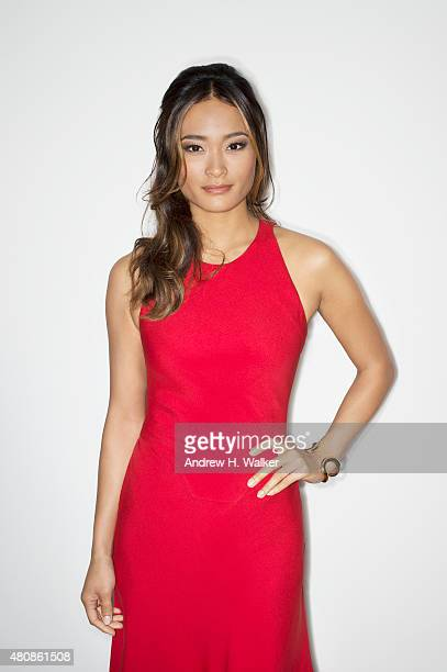Model Jarah Mariano poses for a portrait at the 2015 amfAR Inspiration Gala New York at Spring Studios on June 16 2015 in New York City