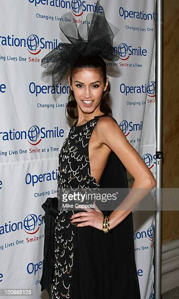 Model Jaslene Gonzales attends Operation Smile's 2009 Jr Smile Collection event at Capitale on April 23 2009 in New York City