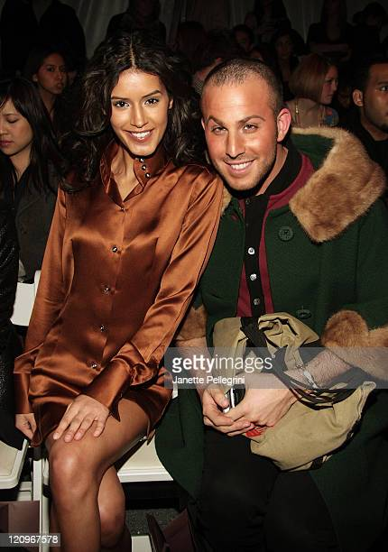 Model Jaslene Gonzalez and Micah Jesse attend Domenico Vacca Fall 2009 during MercedesBenz Fashion Week at The Salon in Bryant Park on February 17...