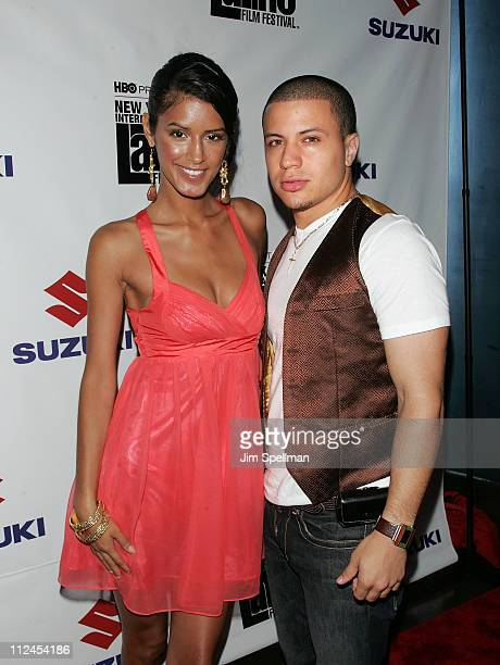 Model Jaslene Gonzalez and Ramses Jimenez attend the 9th annual New York Latino Film Festival premiere of 'American Son' at the Directors Guild...