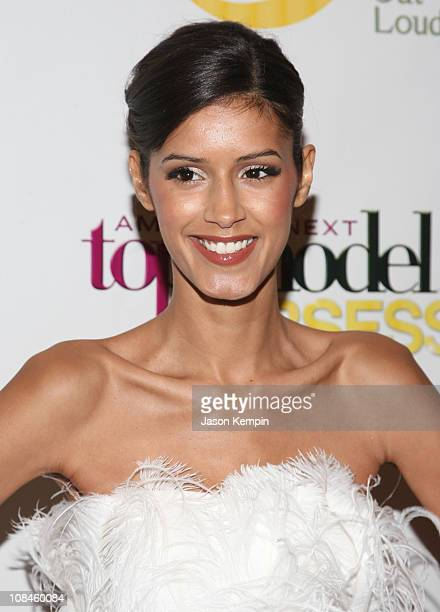 Model Jaslene Gonzalez attends the Oxygen Media Launch Party for 'America's Next Top Model' at Gotham Hall on January 12 2009 in New York City