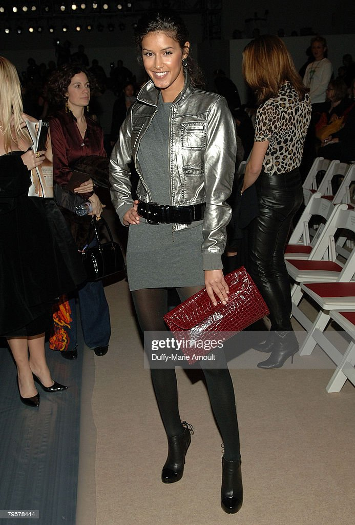 Model Jaslene Gonzalez attends Vivienne Tam Fall 2008 during Mercedes-Benz Fashion Week at The Promenade, Bryant Park on February 5, 2008 in New York City.