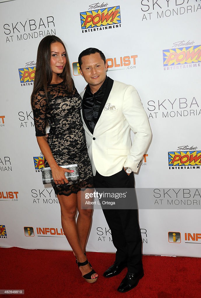 Model Jasmin Lindburg and Oscar Rivera at Infolist.com's Pre-Comic-Con Bash held at Skybar on July 17, 2014 in West Hollywood, California.