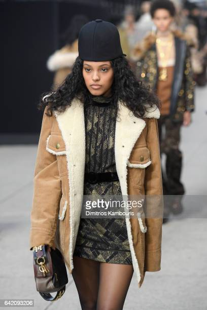 Model Jasmine Daniels walks the runway for the Marc Jacobs Fall 2017 Show at Park Avenue Armory on February 16 2017 in New York City