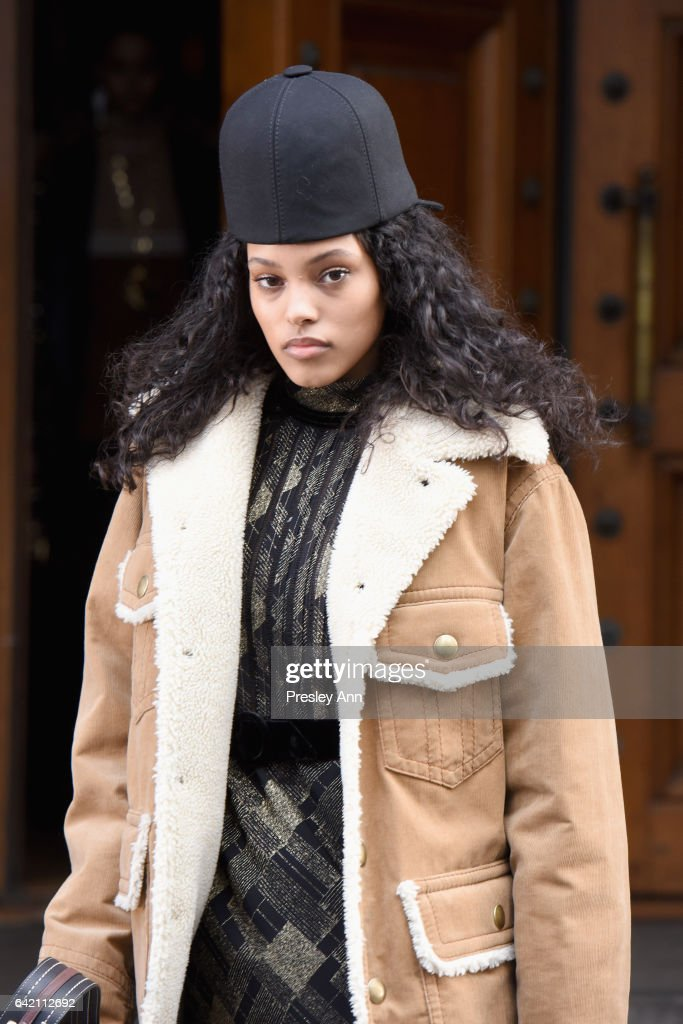 Model Jasmine Daniels walks the runway for the Marc Jacobs Fall 2017 Show at Park Avenue Armory on February 16, 2017 in New York City.
