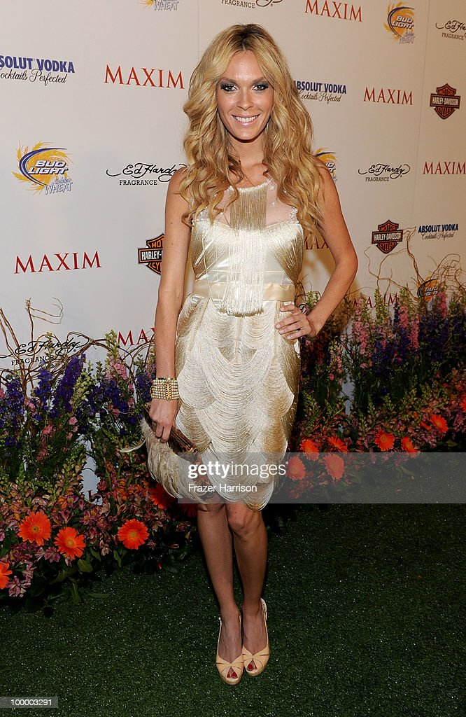 Model Jasmine Dustin arrives at the 11th annual Maxim Hot 100 Party with Harley-Davidson, ABSOLUT VODKA, Ed Hardy Fragrances, and ROGAINE held at Paramount Studios on May 19, 2010 in Los Angeles, California.
