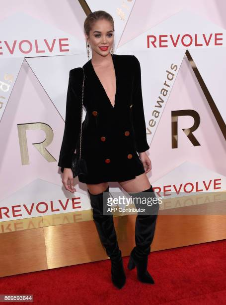 Model Jasmine Sanders attends the first annual #REVOLVEawards at the Dream Hotel in Hollywood on November 2 2017 / AFP PHOTO / CHRIS DELMAS