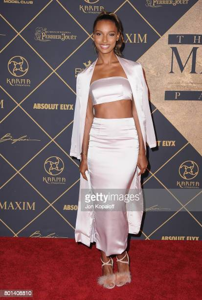 Model Jasmine Tookes arrives at The 2017 MAXIM Hot 100 Party at Hollywood Palladium on June 24 2017 in Los Angeles California