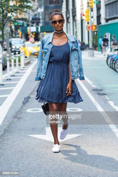 Model Jasmine Tookes attends call backs for the 2017 Victoria's Secret Fashion Show in Midtown on August 21 2017 in New York City