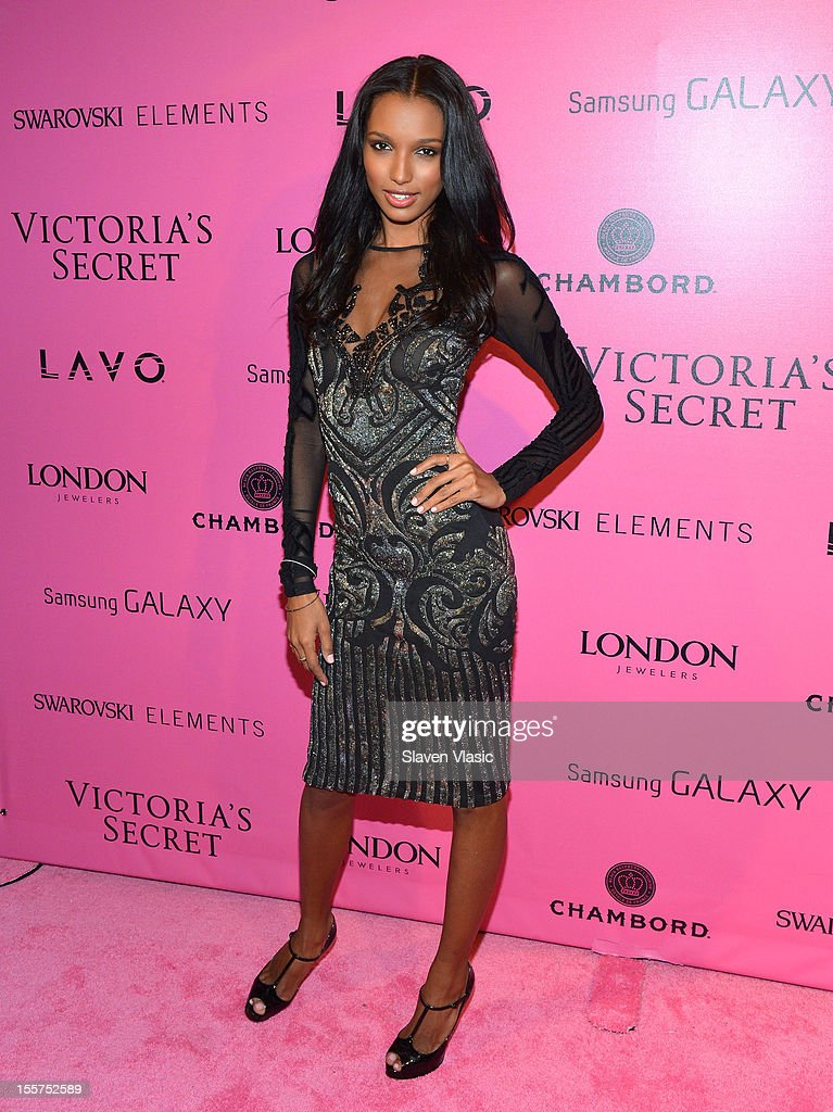 Model Jasmine Tookes attends Samsung Galaxy features arrivals at the official Victoria's Secret fashion show after party on November 7, 2012 in New York City.