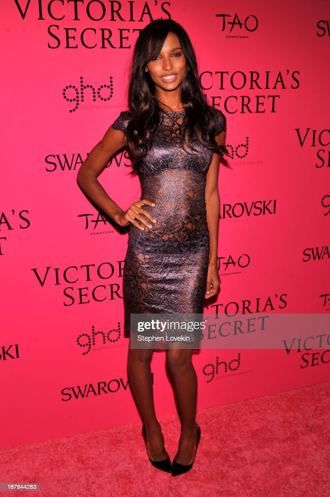 Model Jasmine Tookes attends the 2013 Victoria's Secret Fashion Show at TAO Downtown on November 13, 2013 in New York City.