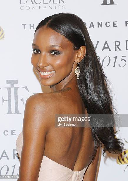Model Jasmine Tookes attends the 2015 Fragrance Foundation Awards at Alice Tully Hall at Lincoln Center on June 17 2015 in New York City