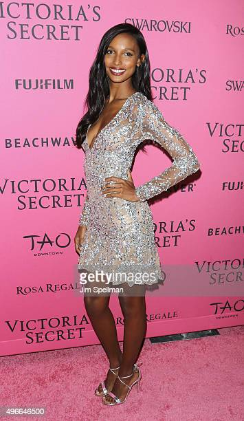 Model Jasmine Tookes attends the 2015 Victoria's Secret Fashion Show after party at TAO Downtown on November 10 2015 in New York City