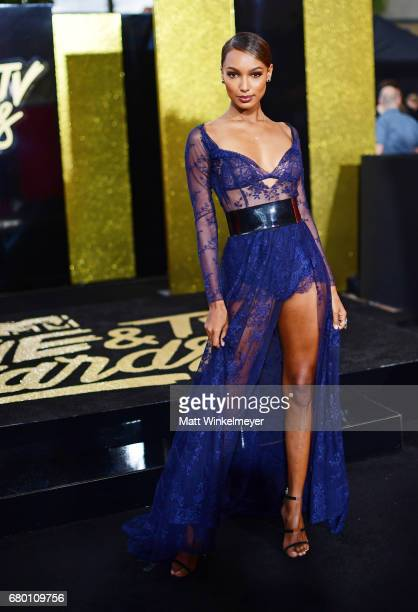 Model Jasmine Tookes attends the 2017 MTV Movie And TV Awards at The Shrine Auditorium on May 7 2017 in Los Angeles California