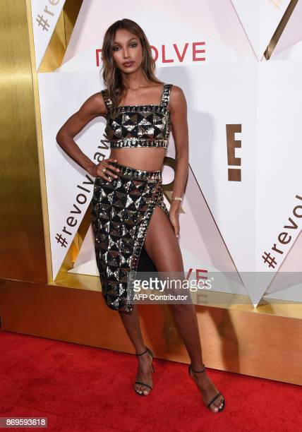 Model Jasmine Tookes attends the first annual #REVOLVEawards at the Dream Hotel in Hollywood on November 2 2017 / AFP PHOTO / CHRIS DELMAS